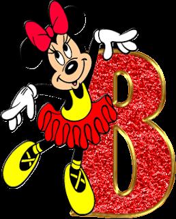 Abecedario de Minnie Ballerina. Minnie Ballerina Alphabet.