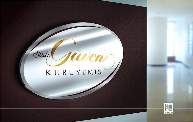 istanbul Güven Kuruyemiş Logo Tasarımı Örnek logo şekerleme, tatlı, lokum tabela tasarımı