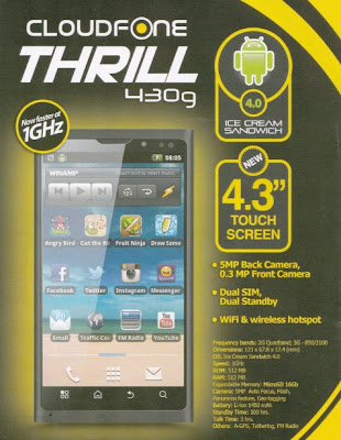 CloudFone Thrill 430g