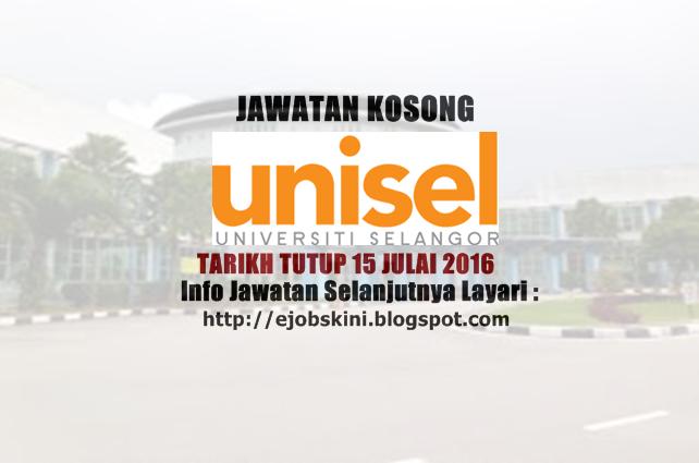 Jawatan Kosong Terkini di UNISEL