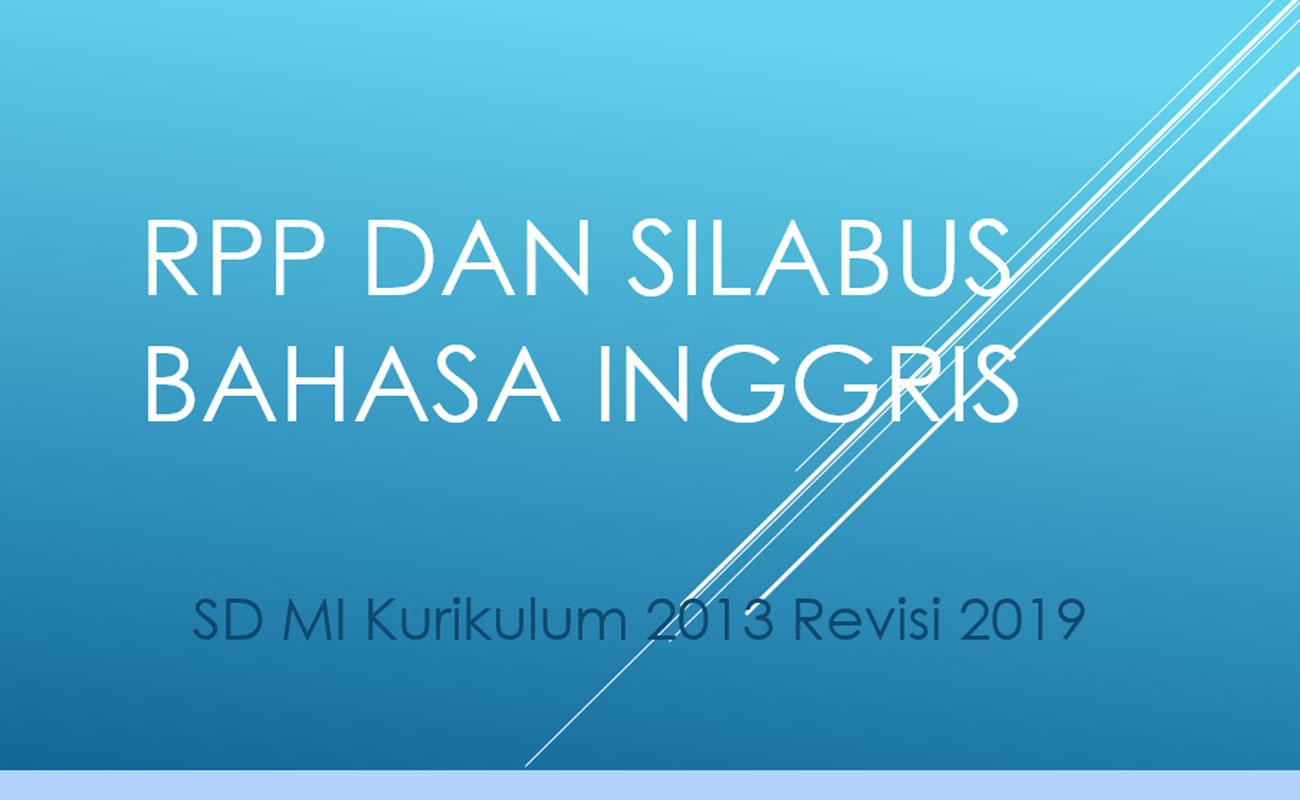 RPP Silabus Bahasa Inggris SD MI Kelas 1 2 3 4 5 6