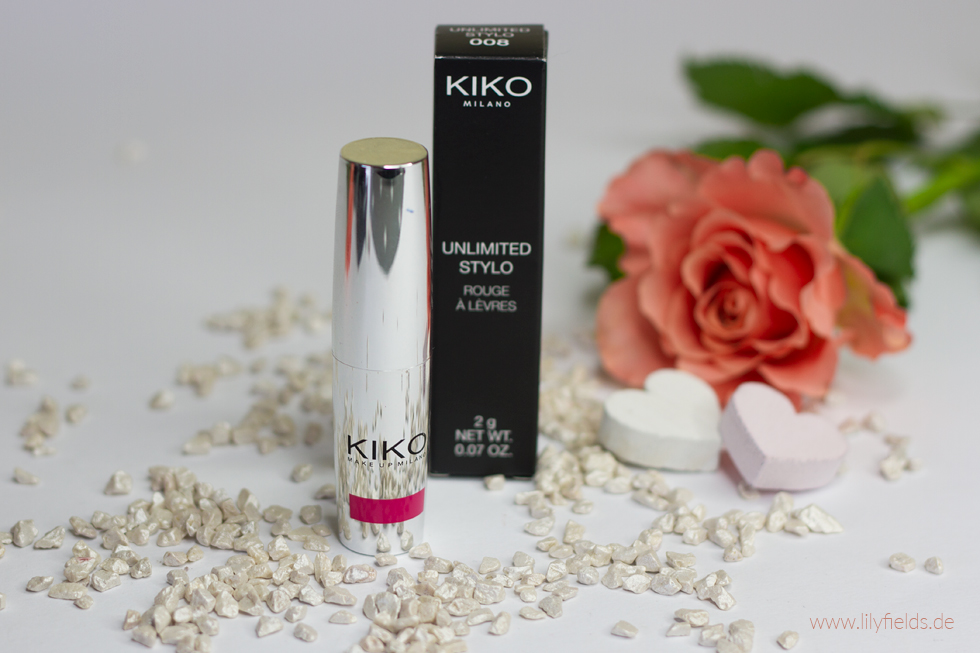Foto zeigt Kiko Unlimited Stylo 08 Pearly Strawberry Pink