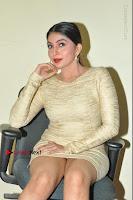 Actress Pooja Roshan Stills in Golden Short Dress at Box Movie Audio Launch  0074.JPG