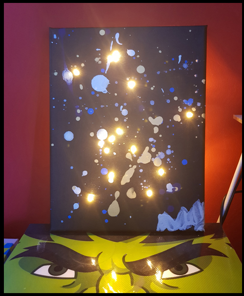 Making a constellation night light thanks to Little Button Diaries