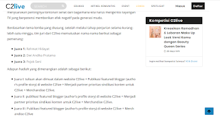 Pemenang Lomba Blog C2Live