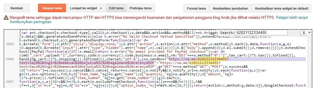 kode template toko online