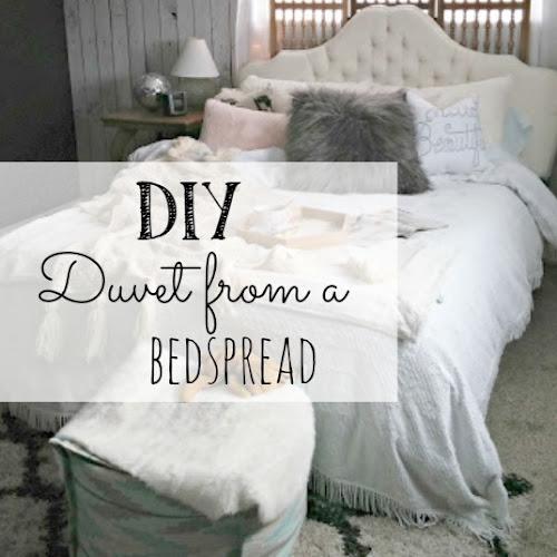 DIY Duvet from a Bedspread