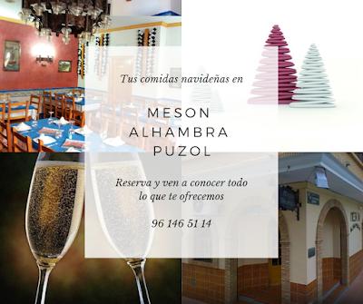 Tus comidas navideñas en Mesón Alhambra Puzol