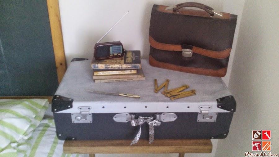 el después de una maleta vieja tuneada
