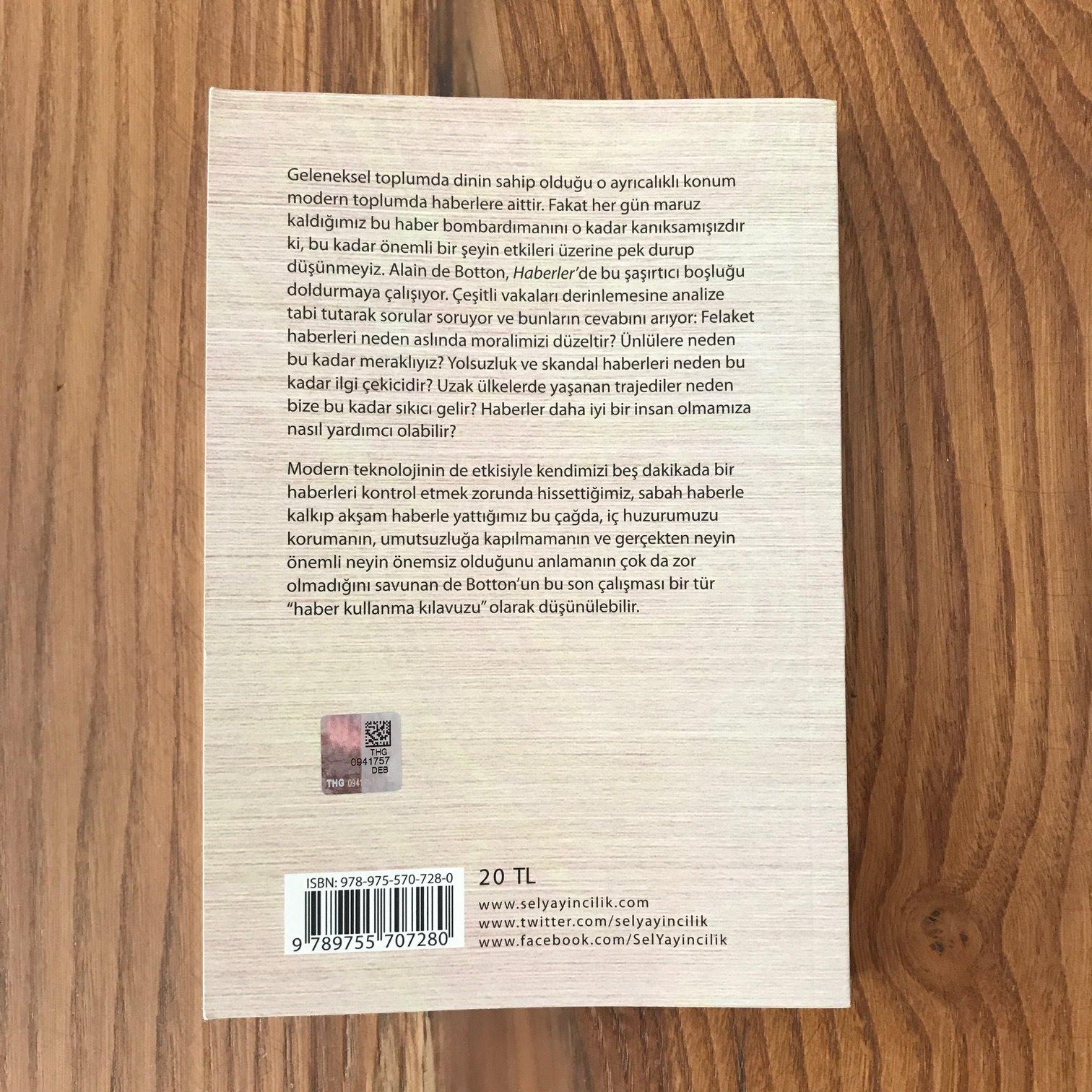 Haberler - Bir Kullanma Kilavuzu Arka Kapak (Kitap)