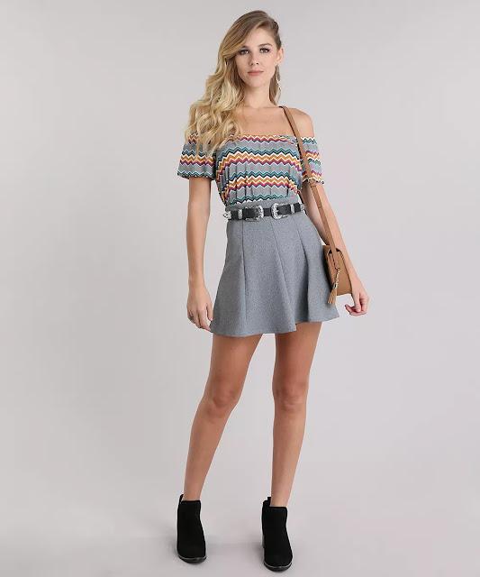 Com essa blusa você terá um look cheio de charme!