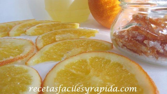 naranja confitada o cristalizada