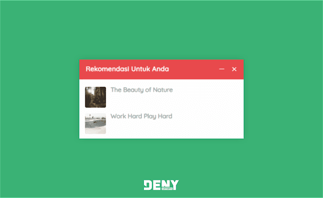 Cara Membuat Slide Box Rekomendasi Artikel di Blog