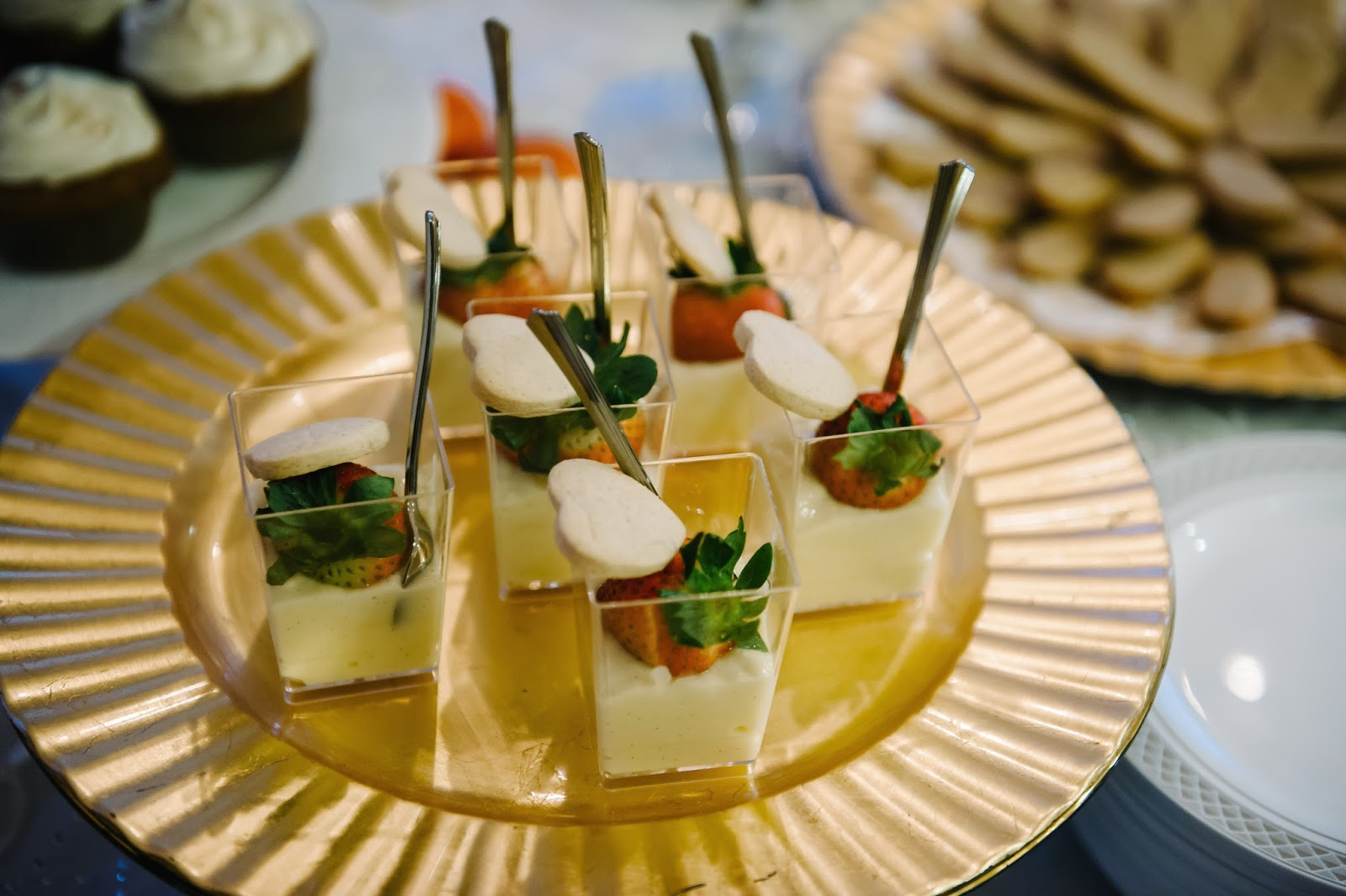 Gluten-Free Dessert Wedding Reception Pudding Cups