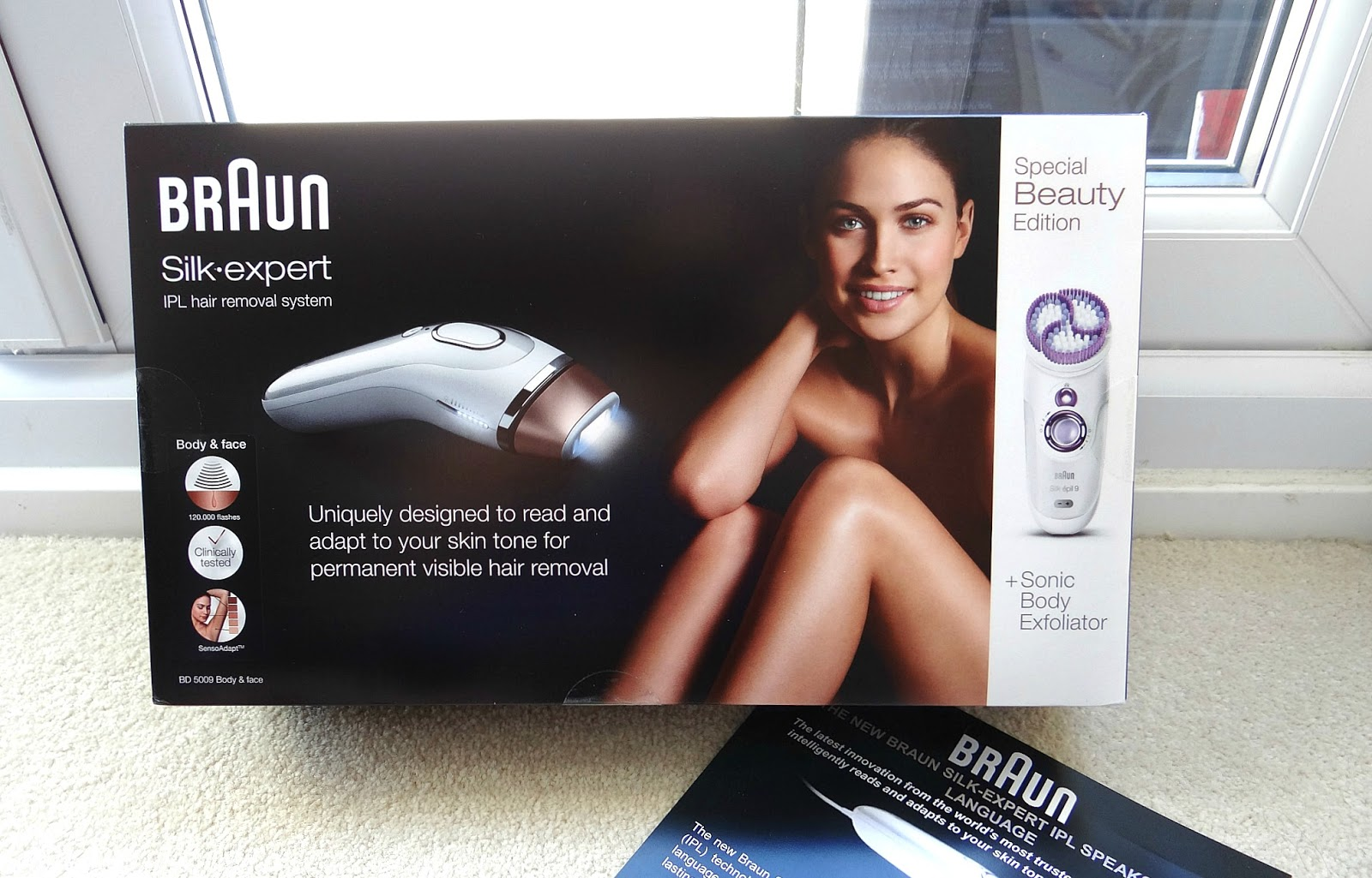 Braun Silk-Expert IPL Hair Removal System, Intense Pulse Light Hair Removal, Body Exfoliation