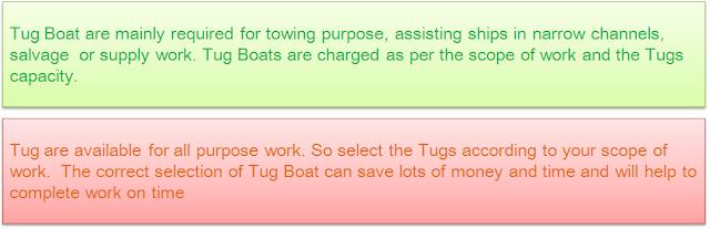 Tug Boat in India