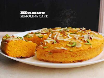 Mango semolina cake egg free cake mangolina cake stove top recipes ayeshas kitchen recipes ayesha farah cake recipes mango recipes