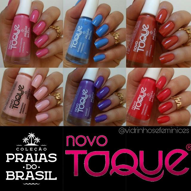 Coleção Praias do Brasil - Novo Toque vidrinhos e feminices