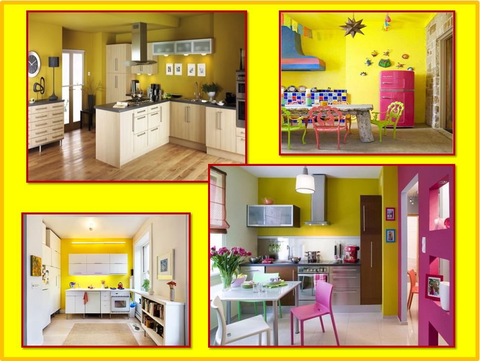 Parete colorata in cucina  Gena Design