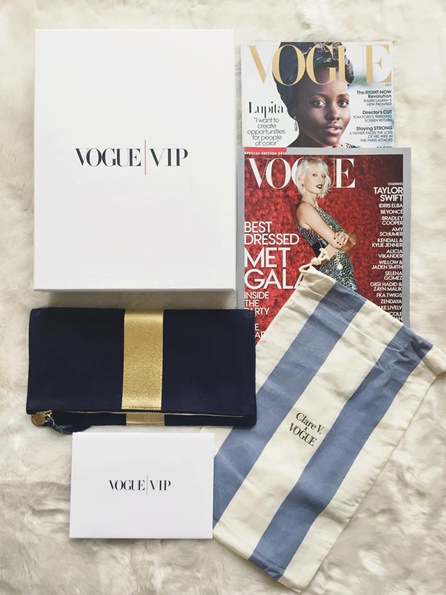 Vogue Vip Clare V clutch