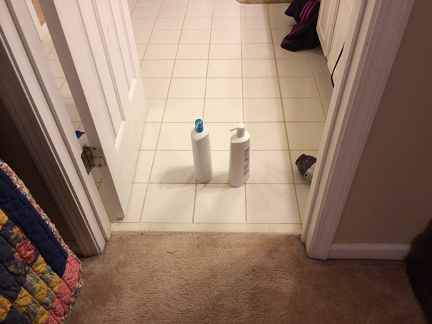50 Hilarious Photos Of People Who Took Instructions Too Literally - I Did Say To Put These In The Bathroom. There Is Nothing Like Having A Literal 2nd Grader Living In Your House