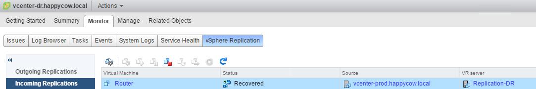 Part 3: Recover A VM Using vSphere Replication
