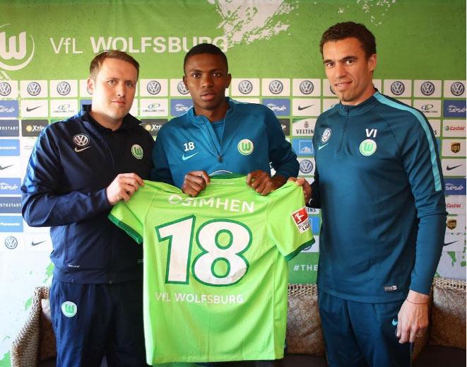 Wolfsburg has signed Nigerian striker Victor Osimhen from Lagos club