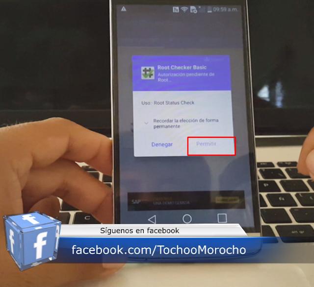 verificar acceso root en el móvil lg g3 stylus