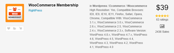 Woocommerce Membership plugin.