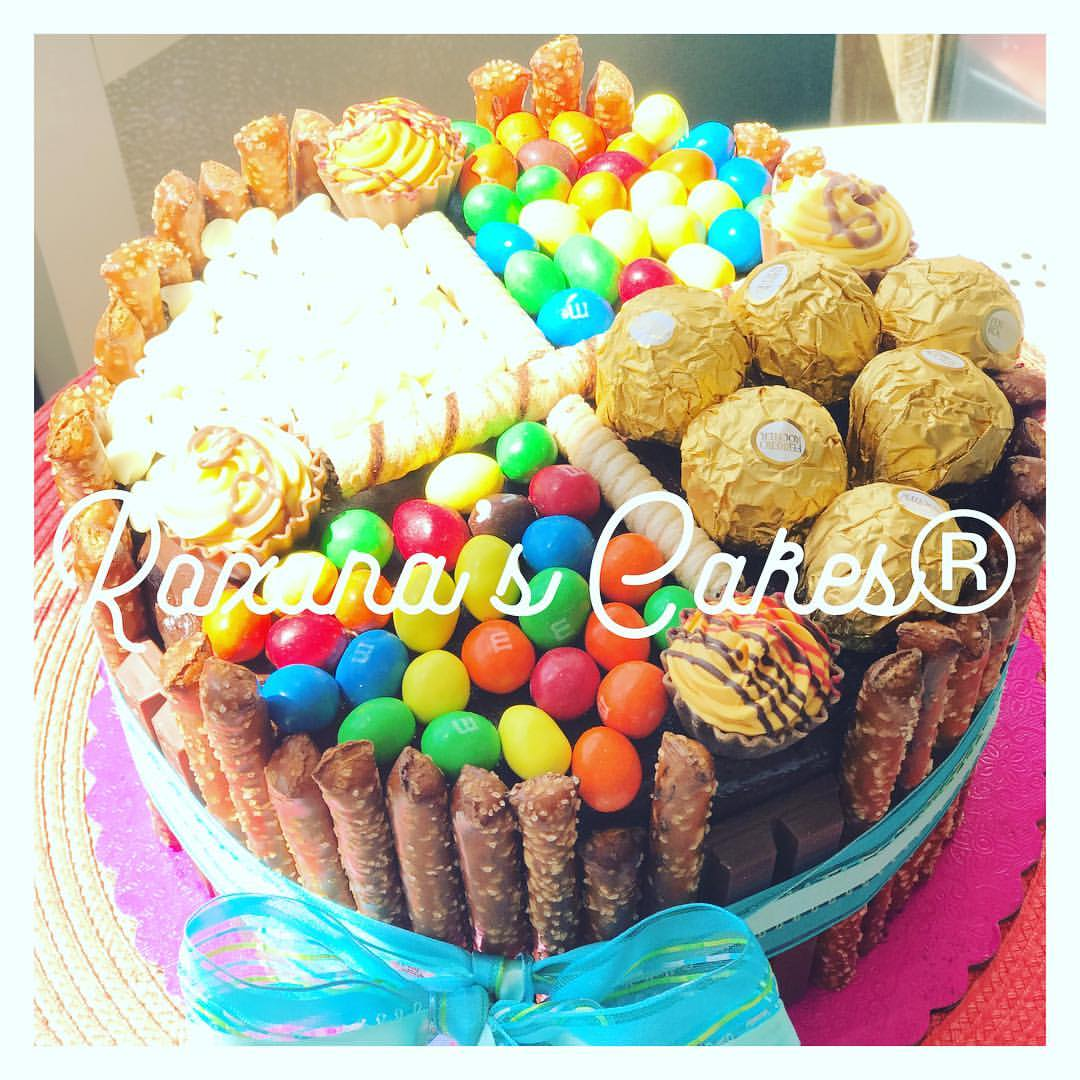 Baking With Roxanas Cakes Chocolate Cake With Candy Topping
