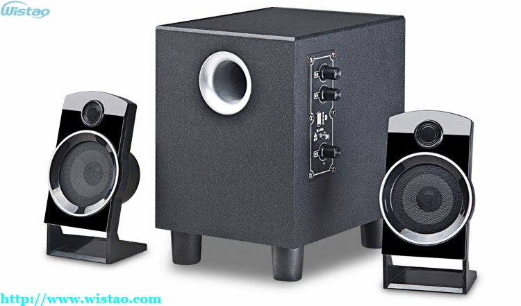 2.1 Wireless Bluetooth Speaker Stereo Wooden Cabinet Large Power Output 2 X10W Plus 20W Bluetooth 2.1 EDR Multimedia Speaker