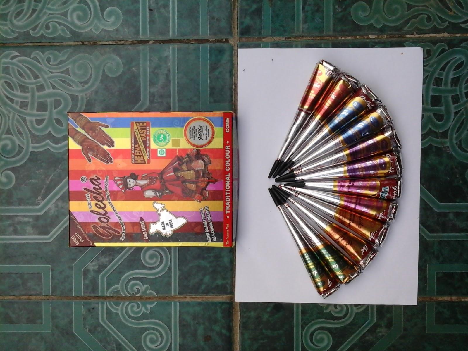 Henna Party Mehndi Kerucut Merah : Henna golecha indonesia color cone
