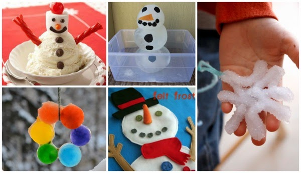 50 Winter Crafts Kids Love- these are SO CUTE!  #wintercraftsforkids #winteractivitiesforkids