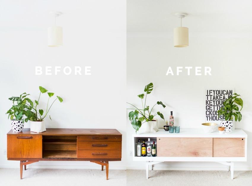 pintar mueble laminado 1
