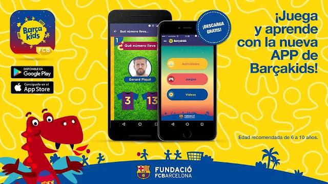 'Barçakids' estrena aplicación móvil