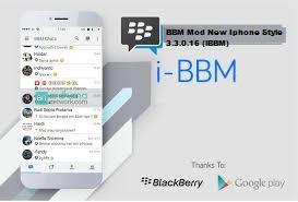 BBM Mod New Iphone Style 3.3.0.16 (iBBM) Terbaru Gratis