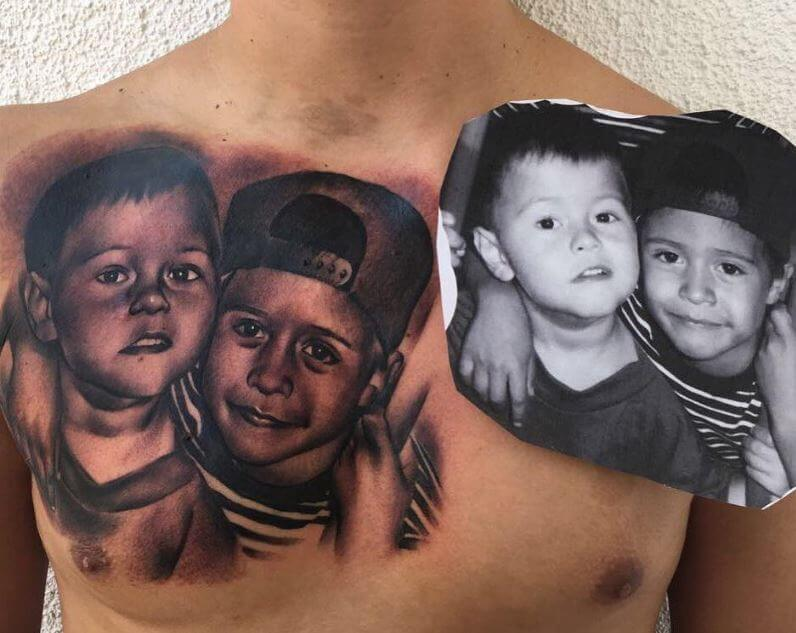80 heart touching brother tattoos ideas 2018 page 5 for Big sister and little sister tattoos