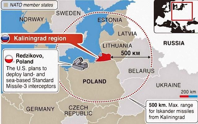 A promoção da presença russa em Kaliningrado é vital na estratégia de guerra