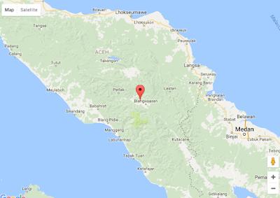 Tampilan Google Maps dengan Marker