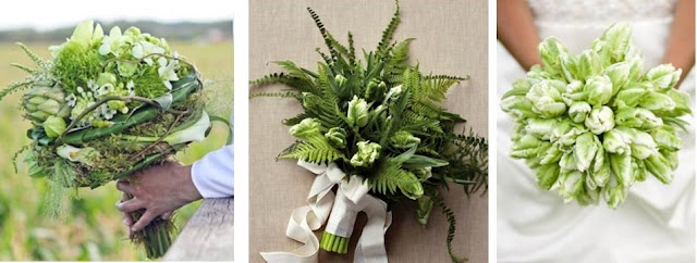 Natural Green wedding Bouquets