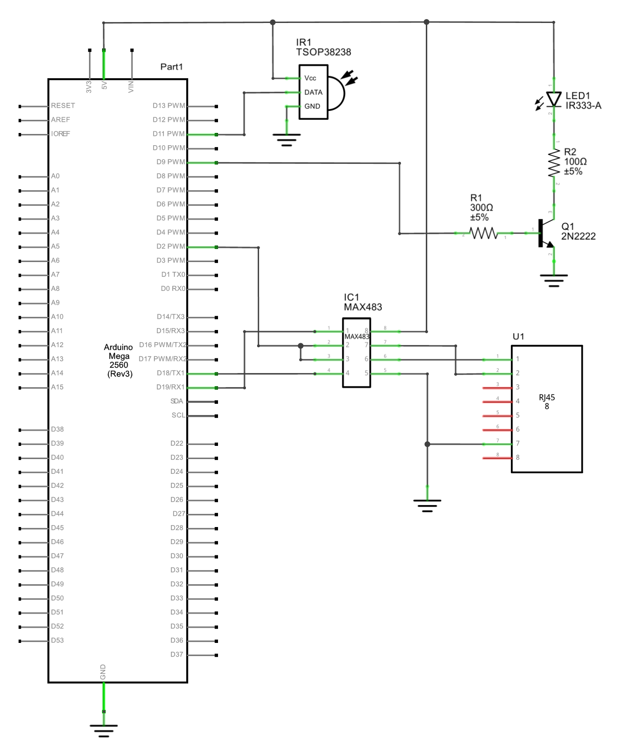 ... ir2rs485 mark's blog building an ir to rs485 bridge Somfy Motors at  cita.asia Somfy Ir Wiring Diagram ...