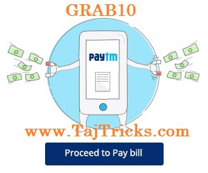Paytm GRAB10 Offer Rs 10 cashaback