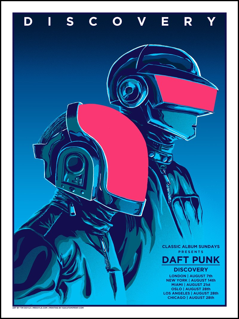 Inside the rock poster frame blog tim doyle daft punk for Posters art prints