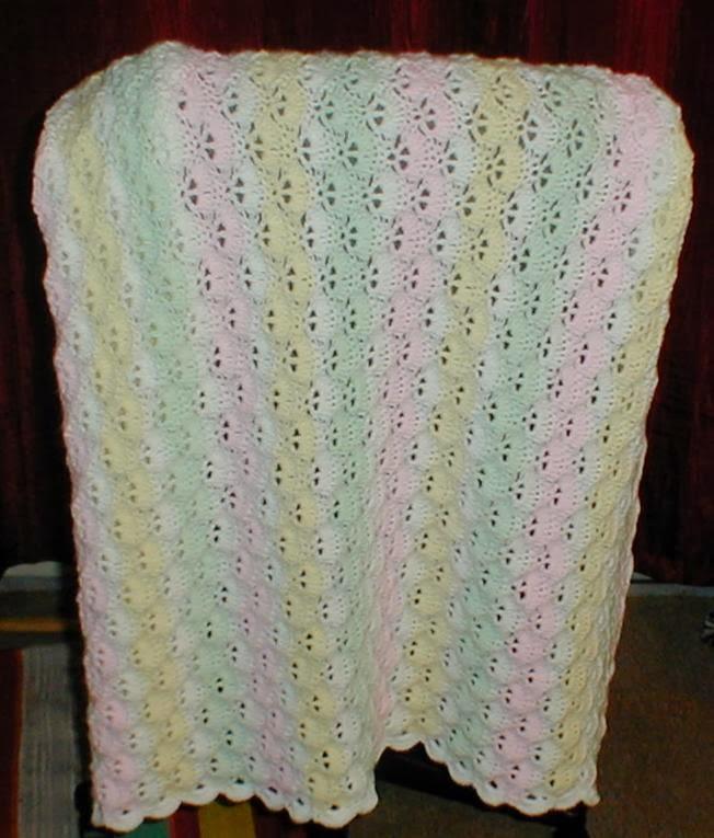 Karens Crocheted Garden Of Colors: Vertical Shells Baby