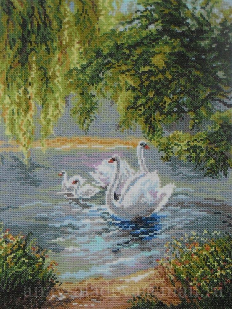 опубликовала вышивание крестиком картинки лебеди молодости был первый
