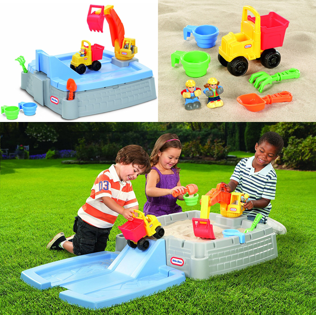 Big Digger Sandbox, Sandbox toys, outdoor toys, preschool toys, toddler toys, spring toys, sandbox