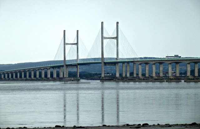 Old Severn Bridge,Taken from Severn Beach, English Side.