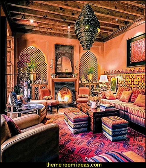 Outdoor Moroccan Decor Design Ideas: Decorating Theme Bedrooms