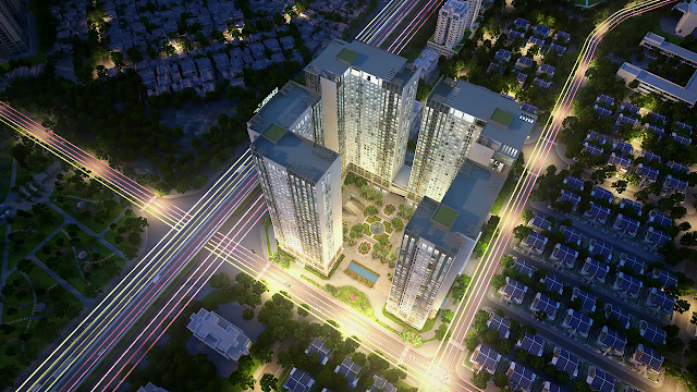 Phối cảnh tổng thể chung cư Eco green city
