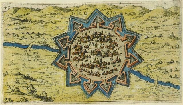 Старинная карта Никосии